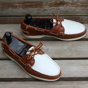 "Ralph Lauren ""Telford II"" Brown & White Deck Shoe"